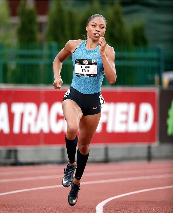 埃里森·菲利克斯(allyson felix),美国女子短跑运动员,她将